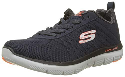 Skechers Flex Advantage 2.0 52185-dknv, Scarpe da Ginnastica Basse Uomo, Blu (Navy 52185/Dknv), 42.5 EU