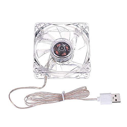 SHANG-JUN Fácil de Montar Mini Mute Ventilador de refrigeración USB para el Tanque de Peces Enrutador de enfriamiento Conjunto de enrutador de la Caja de enfriamiento 8CM DC 5V Conveniente