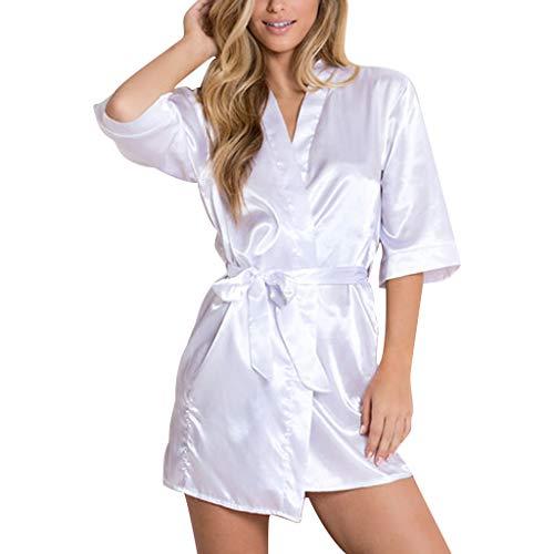 Bata Mujer,Mujeres Sexy Satinado Sleepwear Lencería