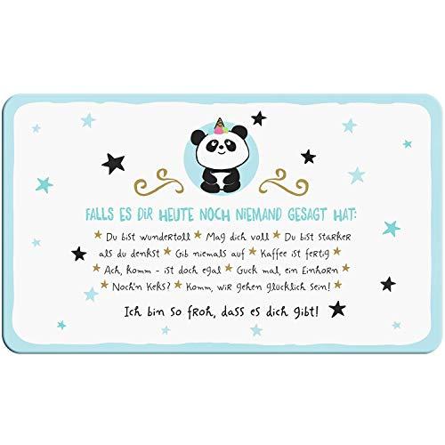 Hope & Gloria Hope und Gloria 46251 Schneidbrettchen mit Panda-Design und liebem Spruch, Resopal Schneidebrett