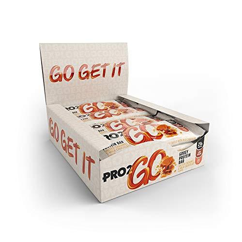 PRO 2GO High Protein Gooey Bar Box, Salted Caramel, Pack of 12 X 60g, 12 Bars