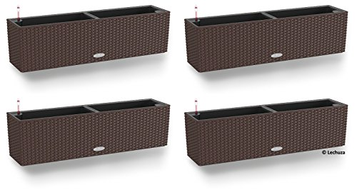 Lechuza -4er-Set Balconera Cottage 80, All-in-One Set, Mokka, 4er-Set