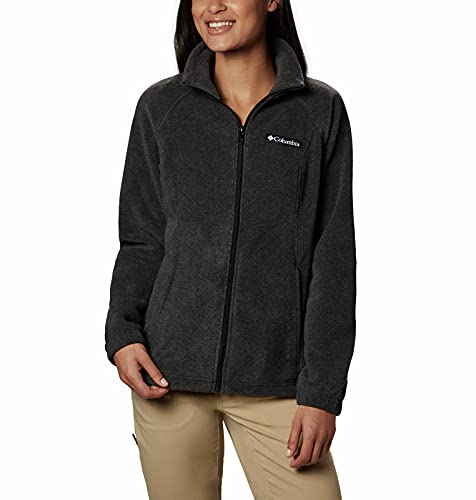 Big Sale Columbia Women's Benton Springs Full Zip Fleece Jacket, Charcoal Heather, X-Large