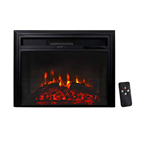 Kintness Electric Fireplace Wall Freestanding Mounted Recessed Electric Fireplace Insert 750/1500W with Remote Control, Timer,Realistic Flame Décor Dining electric Features Fireplaces Home Kitchen