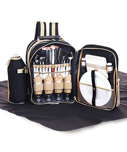 Picnic Plus - Picknickrucksäcke in schwarz, Größe One Size