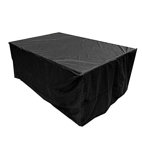 FCZBHT Couverture de Meubles Noir De Plein Air Jardin Table Et Chaise Couverture Imperméable, Disponible Toute L'année Garde poussière (Couleur : Noir, Taille : 250 * 250 * 90cm)