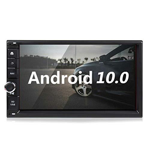 Doppel Din Autoradio mit Bluetooth 2 Din Autoradio Carplay Android 10 4 Core 2+32GB 7 Zoll Muti-Touchscreen im Dash Car MP5-Player GPS Einheit Unterstützung WiFi 4G FM AM RDS Android Auto Navi+Kamera