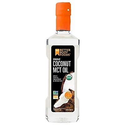 BetterBody Foods' Organic Coconut 100% MCT Oil - Keto-Friendly - C8 & C10 - Gluten Free - 16.9 oz