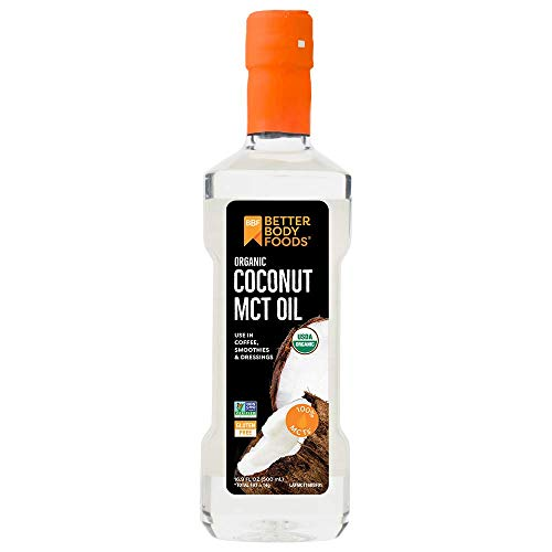 BetterBody Foods' Organic Coconut 100% MCT Oil - Keto-Friendly - C8 & C10 - Gluten Free - 16.9 oz