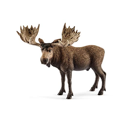 SCHLEICH Wild Life Moose Bull Educational Figurine for Kids Ages 3-8