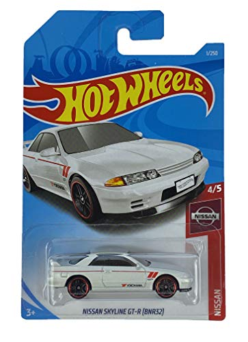 Hot Wheels Nissan Skyline GT-R (BNR32) (Blanco) 4/5 Nissan 2019 - 1/250 (tarjeta larga) FRF04