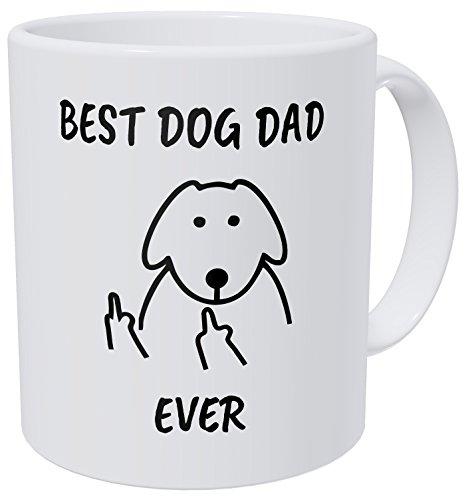 Wampumtuk Best Dog Dad Ever 11 Ounces Funny Coffee Mug
