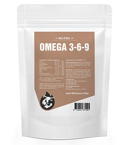 Omega 369 (1000 Softgel Kapseln á 1000mg) Omega 369 | Fischöl | Leinöl | Sonnenblumenöl | Gesunde Fettsäuren | Preishammer