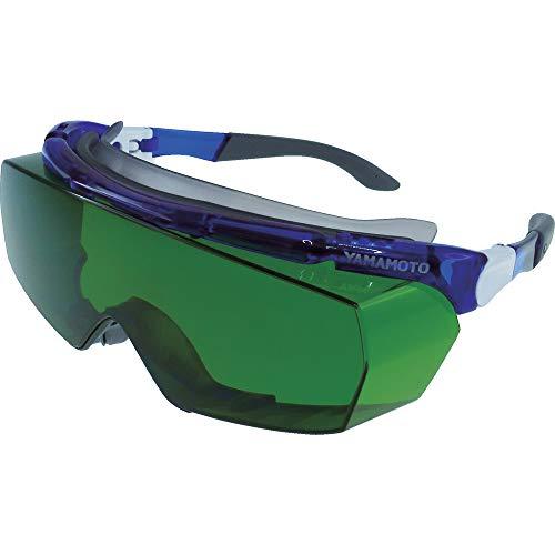 山本光学 YAMAMOTO SNW-770 オーバーグラス 遮光用 保護めがね 上部クッションバー&ノーズパッド付き 眼鏡併用可 ブルー PET-AF(両面ハードコートくもり止め) #1.7 日本製 紫外線カット