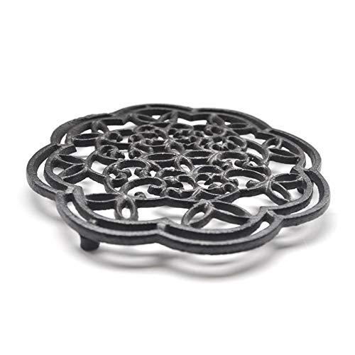 Xzbling Cast Iron Trivet, Rustic Metal Trivet Cast Iron Pot Trivet Decorative Metal Table Trivet Rugged Pot Holder for Hot Pots/Dishes/Pans - Decorative Metal Table Trivet for Kitchen Cooking