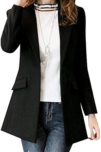 BUTERULES Women's Casual Lapel Notched Slim Fit Raw Cut Hem Blazer Jacket