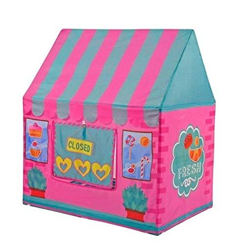 MYHH Kinder Zelt Indoor- und Outdoor-Spielzeug Schloss Dessert Haus Spielhaus Kinderspielhaus (orange). (Color : Pink)