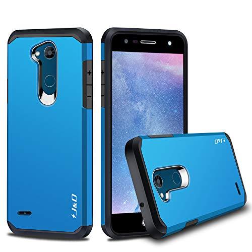 JundD Kompatibel für LG X Power 3 Hülle, [ArmorBox] [Doppelschicht] [Heavy-Duty-Schutz] Hybrid Stoßfest Schutzhülle für LG X Power 3 - [Nicht kompatibel mit LG X Power 2/LG X Power] - Blau