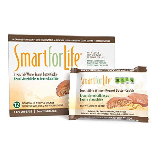 Smart for Life Peanut Butter Protein Cookies - Irresistible Winner High Protein Cookie Diet - 12 Count - Meal Replacement - On-the-Go Snack - Low Calorie Super High Fiber Cookies - Protein Snack