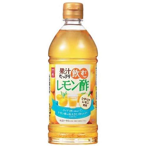 内堀醸造 果汁たっぷり飲むレモン酢 500mlペットボトル×10本入×(2ケース)