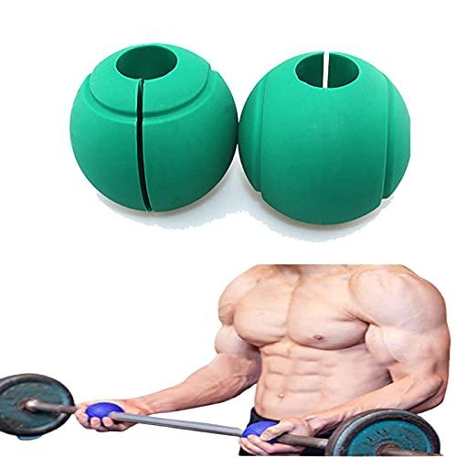 Lumanby Mancuernas y mancuernas de silicona ecológicas con agarre redondo y grueso de silicona para entrenamiento de fuerza