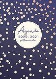 Agenda 2020 2021 settimanale: Agenda 2020/2021 italiano A5 | 18 mesi |  luglio 2020 - dicembre 2021 | Pianificatore Mensile | Calendario | viola | Pois
