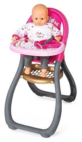 Trona Baby Nurse para muñeco bebé con accesorios (Smoby 220310)