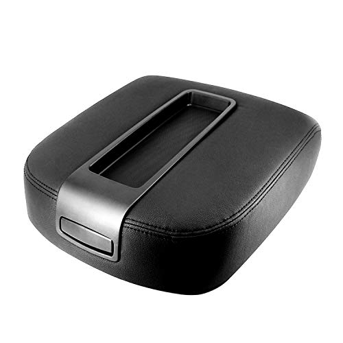 ustar Leather Center Console Lid Armrest Cover Replacement for Chevy Avalanche Silverado 1500/2500 HD/3500 HD Suburban 1500/2500 Tahoe GMC Yukon/XL 1500/XL 2500 Sierra 1500/2500/3500 15217111 Black