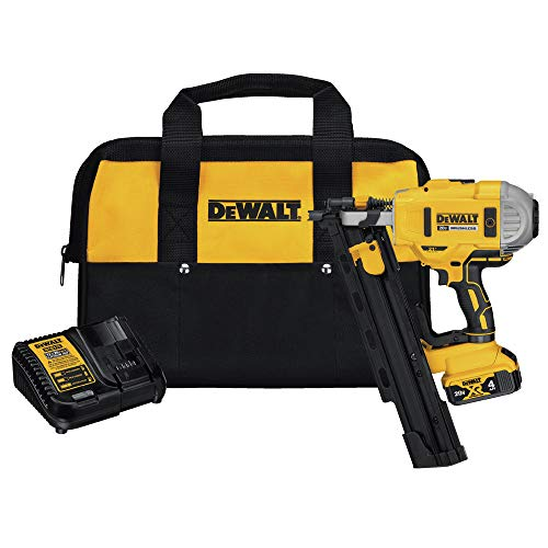 DEWALT 20V MAX Framing Nailer Kit, 21-Degree, Plastic Collated (DCN21PLM1)