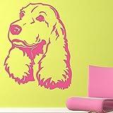 mlpnko Lindo Cachorro Etiqueta de la Pared Animal Creativo Vinilo removible decoración del hogar Arte Etiqueta de la Pared,CJX10629-44x56cm