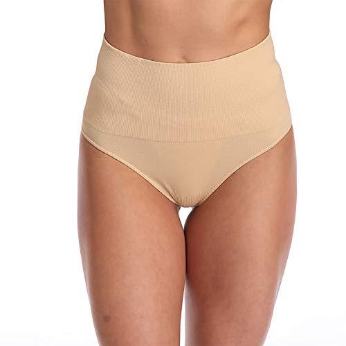 Lilvigor Tanga moldeadora para mujer, control de barriga, tanga, faja, bragas delgadas, moldeadoras de cuerpo, tanga, ropa interior, Beige, XXXL