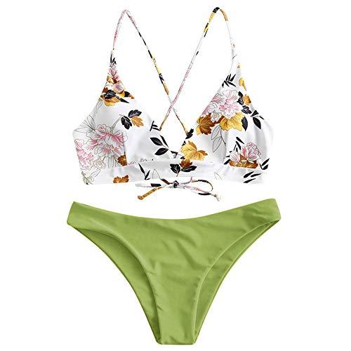ZAFUL Juego de bikini de dos piezas con sujetador ajustable y cinturón...