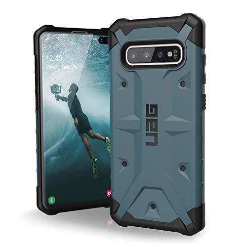 Urban Armor Gear Pathfinder Hülle für Samsung Galaxy S10+ / S10 Plus nach US-Militärstandard [Qi kompatibel, Sturzfest, Verstärkte Ecken] - blau (slate)