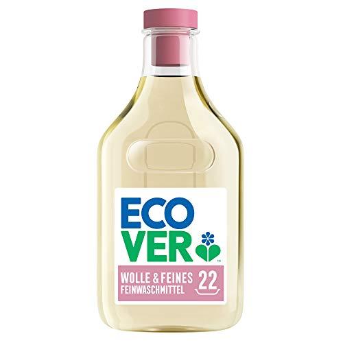 Ecover Feinwaschmittel Wolle & Feines (1 L/22 Waschladungen), Flüssigwaschmittel mit pflanzenbasierten Inhaltsstoffen, Ecover Waschmittel für empfindliche Textilien