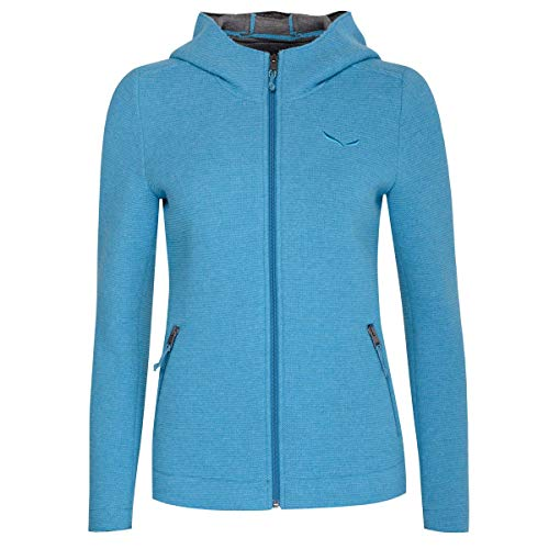 Salewa Damen Trachten-Mode Sarner Funktionsstrickjacke Christine in Türkis traditionell, Größe:34, Farbe:Türkis