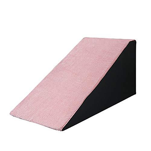 Pet Treppen- High Density Sponge Pet Steps - Rosa Katzen- / Hunderampenleiter für Indoor Outdoor, Einfacher Aufstieg (Size : M-High 40cm)