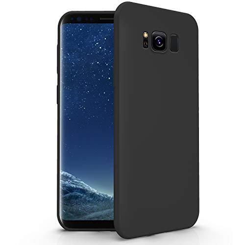 N NEWTOP Cover Compatibile per Samsung Galaxy S8 Plus, Custodia TPU Soft Gel Silicone Ultra Slim Sottile Flessibile Case Posteriore Protettiva (Nero)
