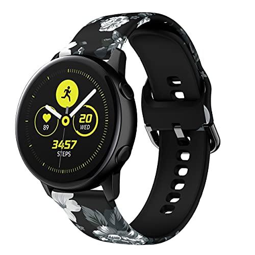 Correa de reloj de 22 mm de ancho de silicona suave, ajustable, compatible con Samsung Gear S3 Frontier/S3 Classic, Galaxy Watch 3 45 mm y Galaxy Watch 46 mm