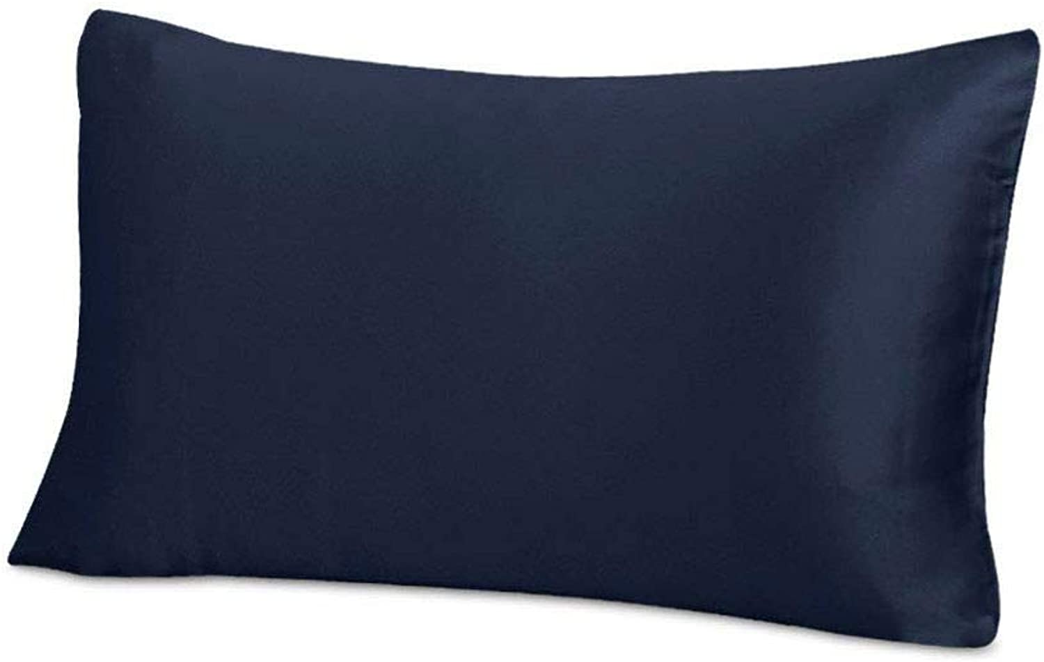 THXSILK Silk Pillowcase for Hair and Skin-25 Momme Mulberry Silk Pillow Cover with Hidden Zipper, Pure Silk on Both Sides, King Size 20 x36 , Navy bluee