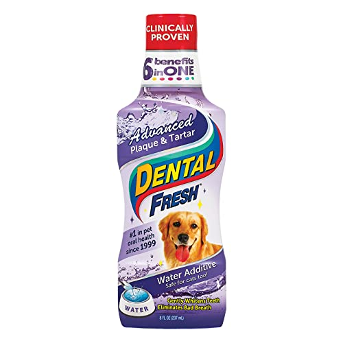 Dental Fresh Advanced Plaque and Tartar Water Additive for Dogs –...