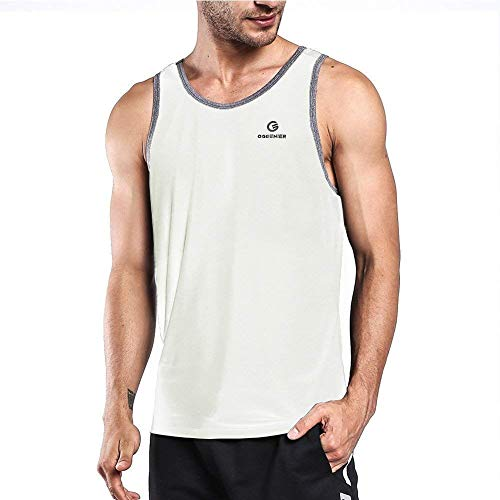 Ogeenier Hombre Deporte Camiseta sin Mangas de Secado Rápid