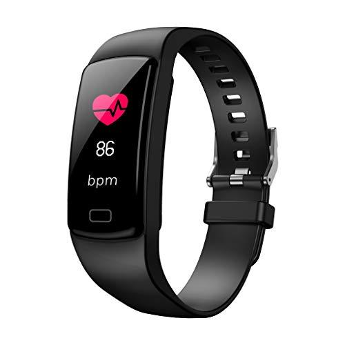 Happy-day, orologio sportivo da uomo e donna, con cardiofrequenzimetro, pressione sanguigna, cronometro, promemoria chiamate, SMS, messaggio push per Facebook
