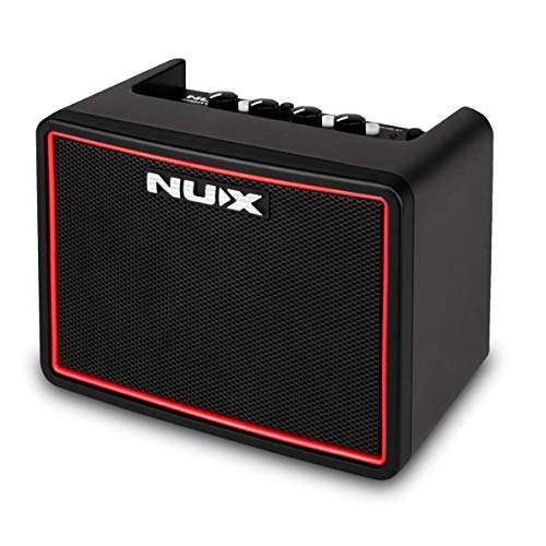 NUX Mighty Lite BT Mini Portable Modeling Guitar Amplifier with Bluetooth (Black/Red)