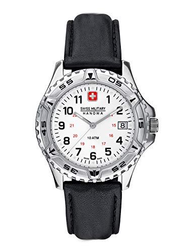 Swiss Military Hanowa Eiger Herrenuhr mit Lederband 39 MM 10 Bar Datum 06-4053.04.001_2