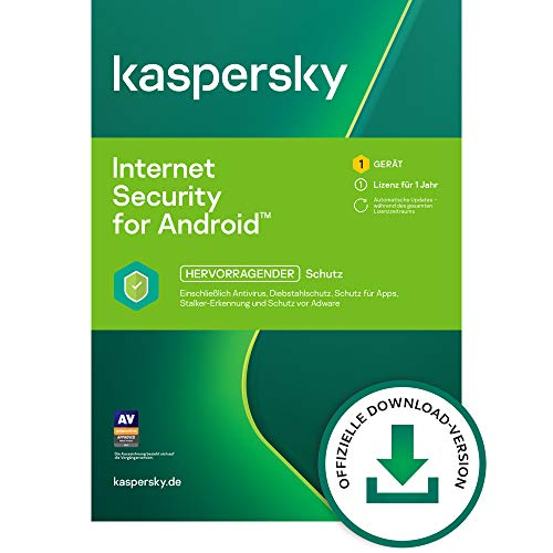 Kaspersky Internet Security for Android 2021 Standard | 1 Gerät | 1 Jahr | Android | Aktivierungscode per Email
