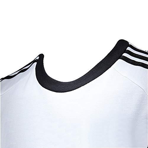 adidas Sport ESS Tee Trefoil Mens Shirt Originals Retro Men's T-Shirt White/Black, Sizes:XL