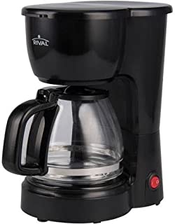 Five Cups Coffee Maker w/ Removable Filter Basket, Water Level Window & Keep Warm Function (up to 2 hours)