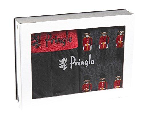 Pringle Herren New Genuine 2Pack Hipster Trunk Fashion Neuheit Socke Geschenk Box Set Gr. X-Large, schwarz