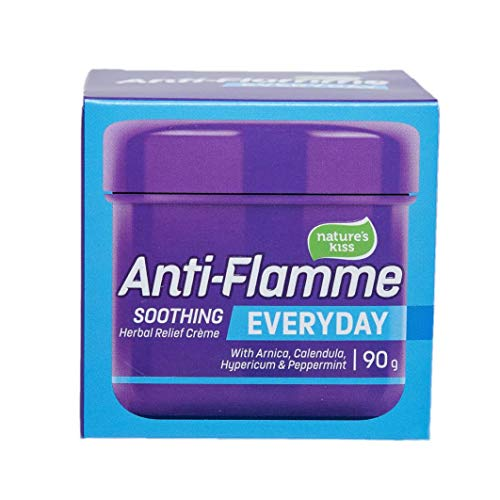 Nature's Kiss Anti-Flamme Original Everyday Soothing Herbal Relief Cream - 90g - Contains Arnica, Hypericum, Calendula and Peppermint