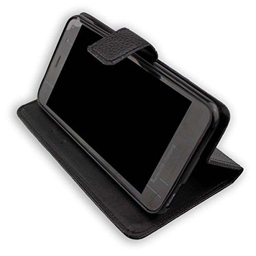 caseroxx Handy Hülle Tasche kompatibel mit Gigaset GS160 & GS170 Bookstyle-Hülle Wallet Hülle in schwarz